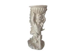 Ангел с кашпо, декоративная интерьерная фигура