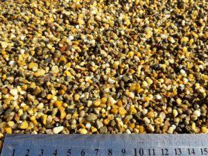 Галька цветная, жёлтая 3-5 мм