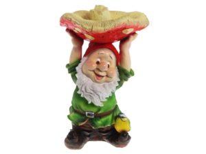 Гном с грибом — поилка, Н-48 см. L-31 см.