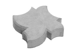 Кленовый лист, плитка тротуарная вибролитая