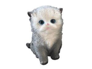 Кошка пухлая, декоративная интерьерная фигура