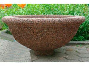 Вазон «Ламела» из мытого бетона