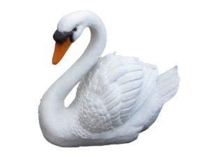 Лебедь новый H-35см
