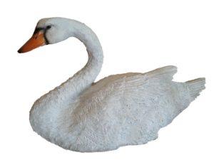 Лебедь плывет H-30 см, L-50 см