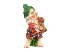 Орк с собачкой, декоративная интерьерная фигура