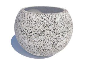 Вазон «Шар» из мытого бетона