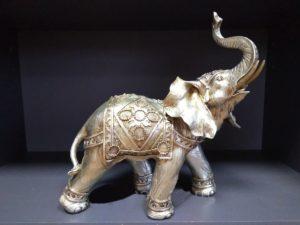 Слон большой, копилка (серебро), H-40 см, L-55 см
