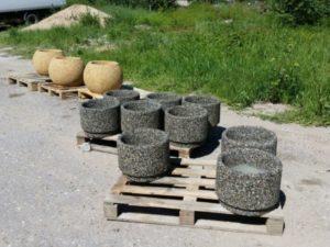 Вазон «Афина» из мытого бетона