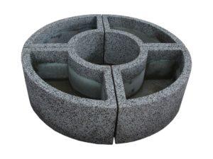 Вазон «Трансформер» из мытого бетона