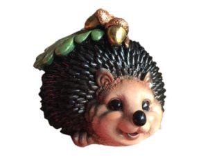 Ёжик с жёлудем, декоративная интерьерная фигура
