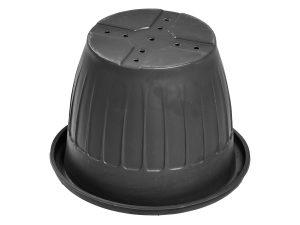 Кашпо d-40 см чёрный