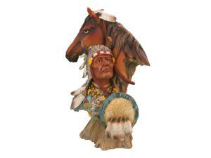 Лошадь с индейцем